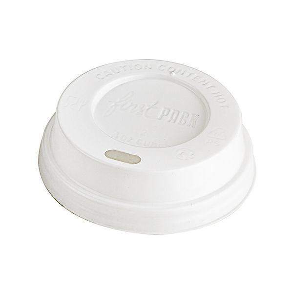 Couvercle dôme ps blanc pour gobelet 4oz - par 1000 (photo)