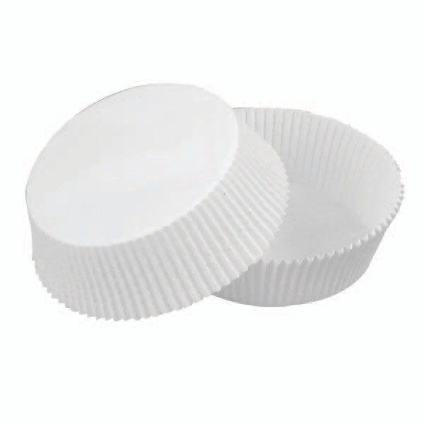 Caissette en papier ronde diamètre à plat 129 mm par 1000 (photo)