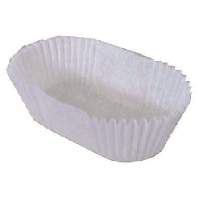 Caissette papier blanche ovale 170 x 130 x 38 mm par 100 (photo)