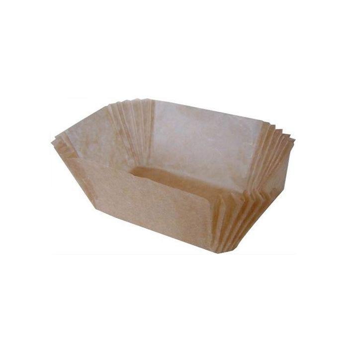 Caissette papier brune ovale 170 x 130 x 38 mm par 100 (photo)