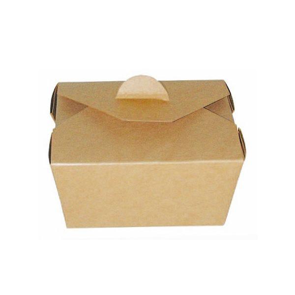 Boîte repas carton kraft 130 x 106 x 65 mm - par 450 (photo)