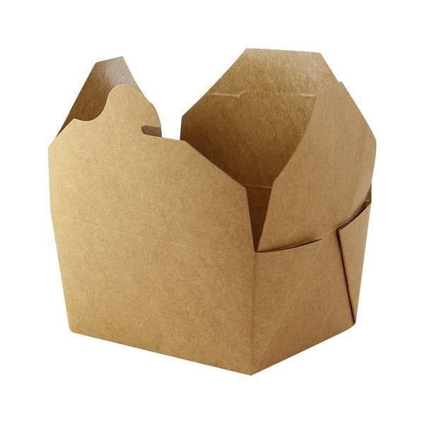 Boîte repas carton kraft 215 x 160 x 50 mm - par 200 (photo)