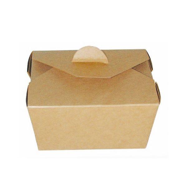Boîte repas carton kraft 215 x 160 x 65 mm - par 200 (photo)