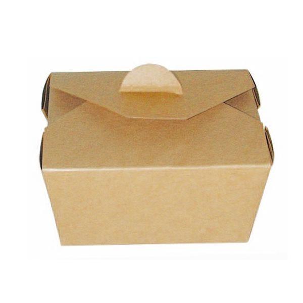 Boîte repas carton kraft 215 x 160 x 90 mm - par 160 (photo)