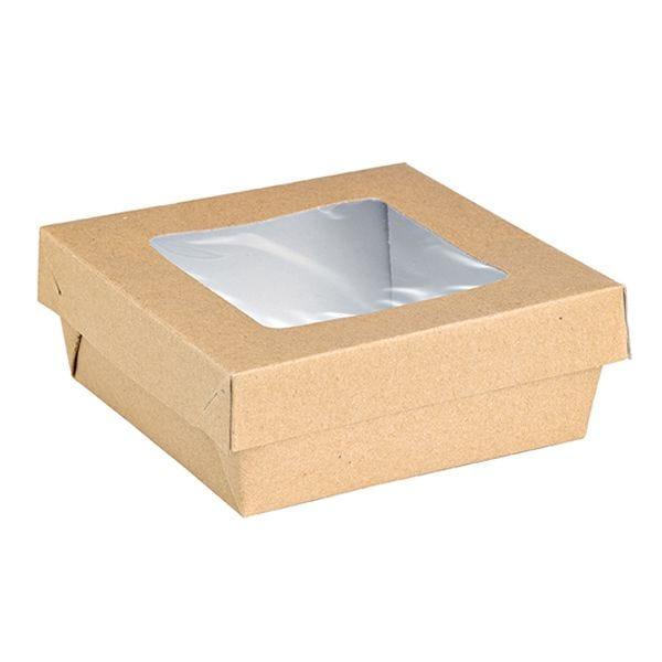 Boîte kray bo x  brun fenêtre pla 140 x 140 x 50 mm - par 250 (photo)