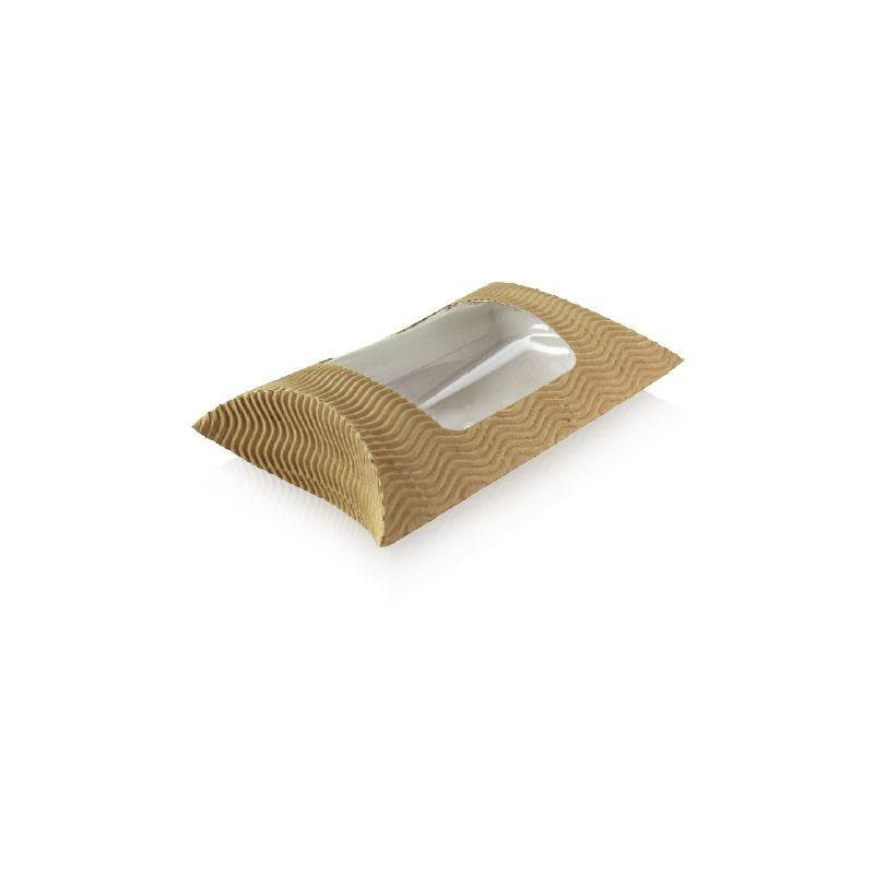 Etui carton ondule rectangulaire a fenêtre 183 x 114 x 44 mm - par 250 (photo)