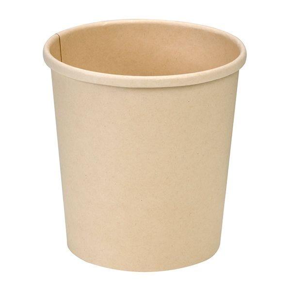 Pot carton fibre bambou avec couvercles 16oz - par 500