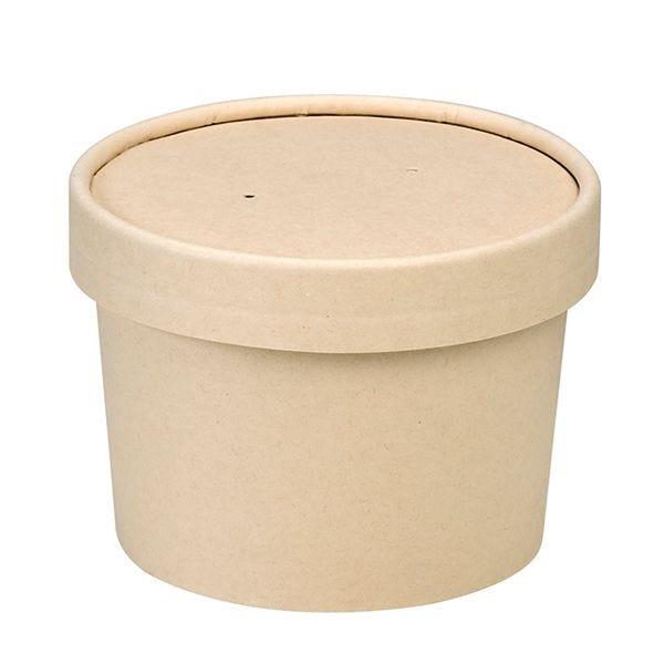 Pot carton fibre bambou av couvercle - par 500