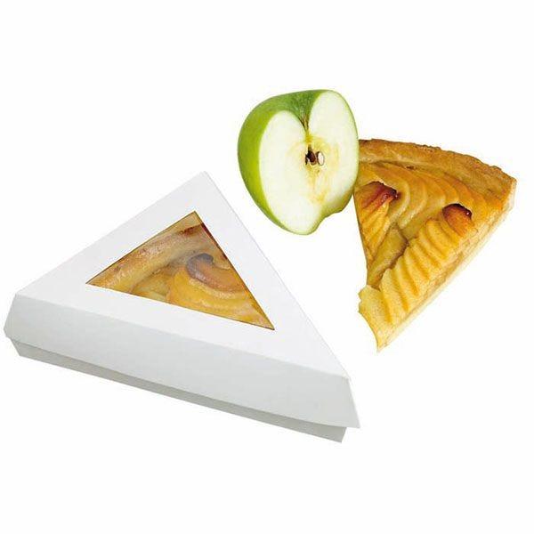 Boîte pâtissière triangulaire blanche 17 x 17 x 13 cm - par 50 (photo)