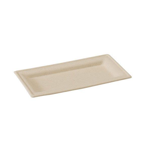 Assiette pulpe brune13 x 26 cm - par 500 (photo)