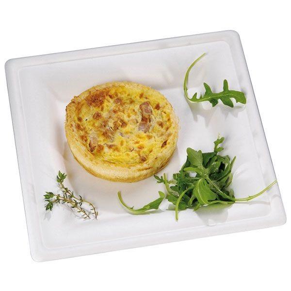 Assiette en pulpe carrée 26 x 26 cm - par 25 (photo)