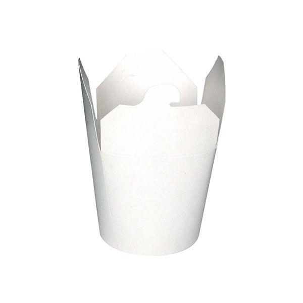 Pot carton blanc base ronde fermeture à fente 750 ml - par 500