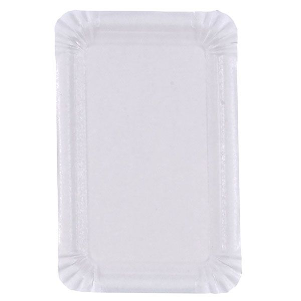 Assiette en carton blanc 13 x 20 cm - par 100 (photo)