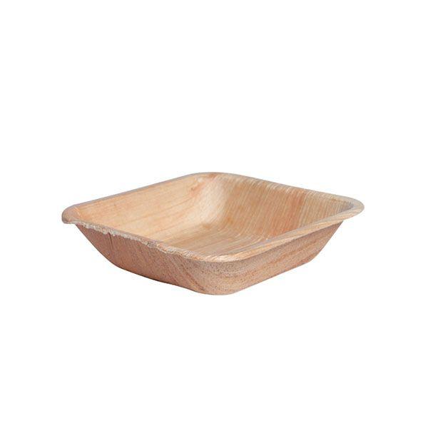 Assiette en palmier carrée 13 x 13 cm - par 10 (photo)
