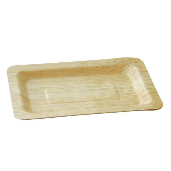 Assiette en bambou 20 x 14 cm - par 10 (photo)