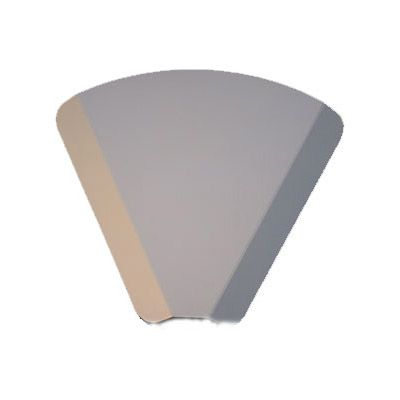 Carton part de pizza triangulaire blanche par 1000