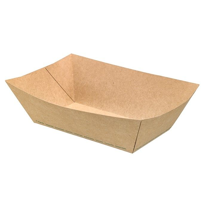 Barquette carton kraft ingraissable - par 125 (photo)
