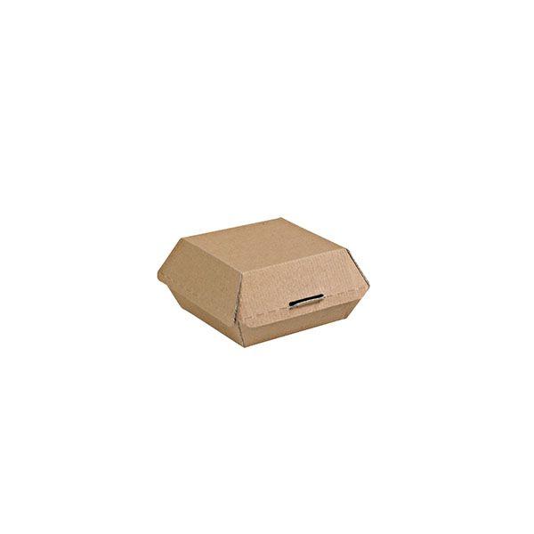 Boîte àhamburger kraft 135x125x65mm - par 500 (photo)