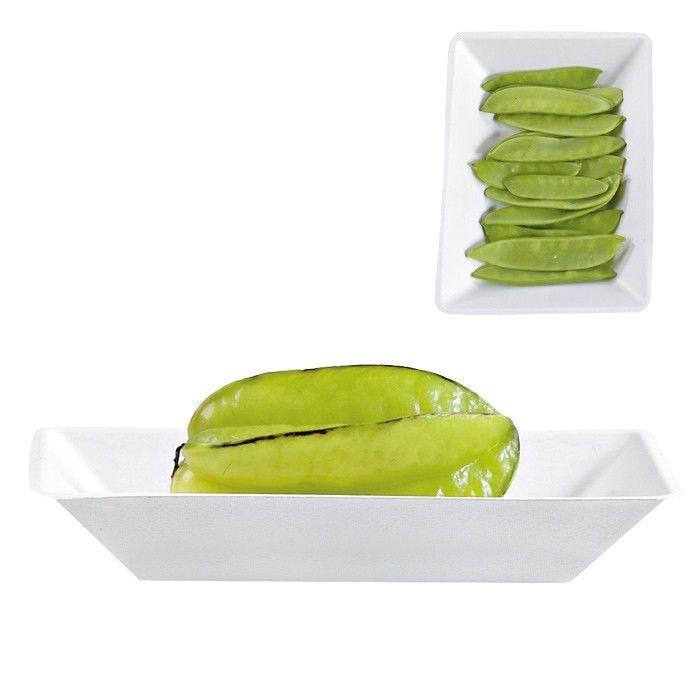 Assiette pulpe eco design 17 x 13 cm - par 50 (photo)