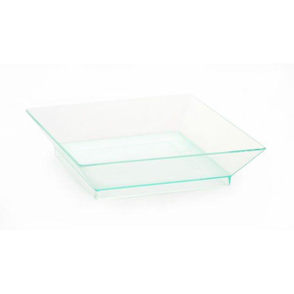 Assiette klarity en plastique vert 6,5 x 6,5 cm - par 50 (photo)