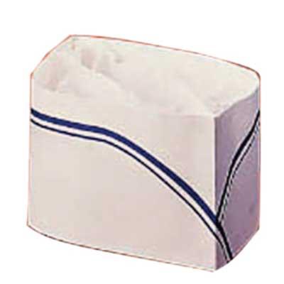 Calot papier blanc et bleu par 100 (photo)
