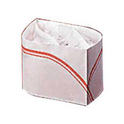 Calot papier blanc et rouge par 100 (photo)