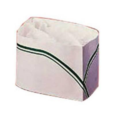 Calot papier blanc et vert par 100 (photo)