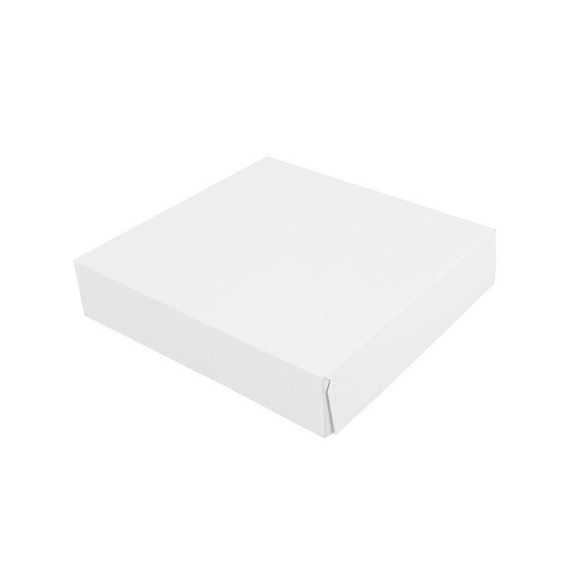 Boîte pâtissière carton compact - 260 x 260 x 50 mm - par 50 pièces