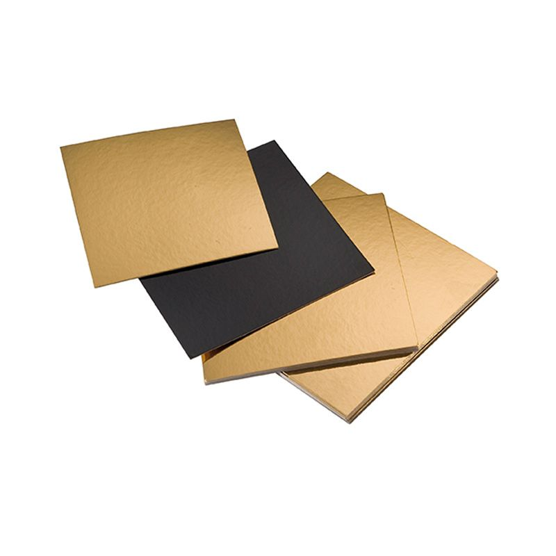 Carré or/noir - 200 x 200 mm - par 100 pièces (photo)