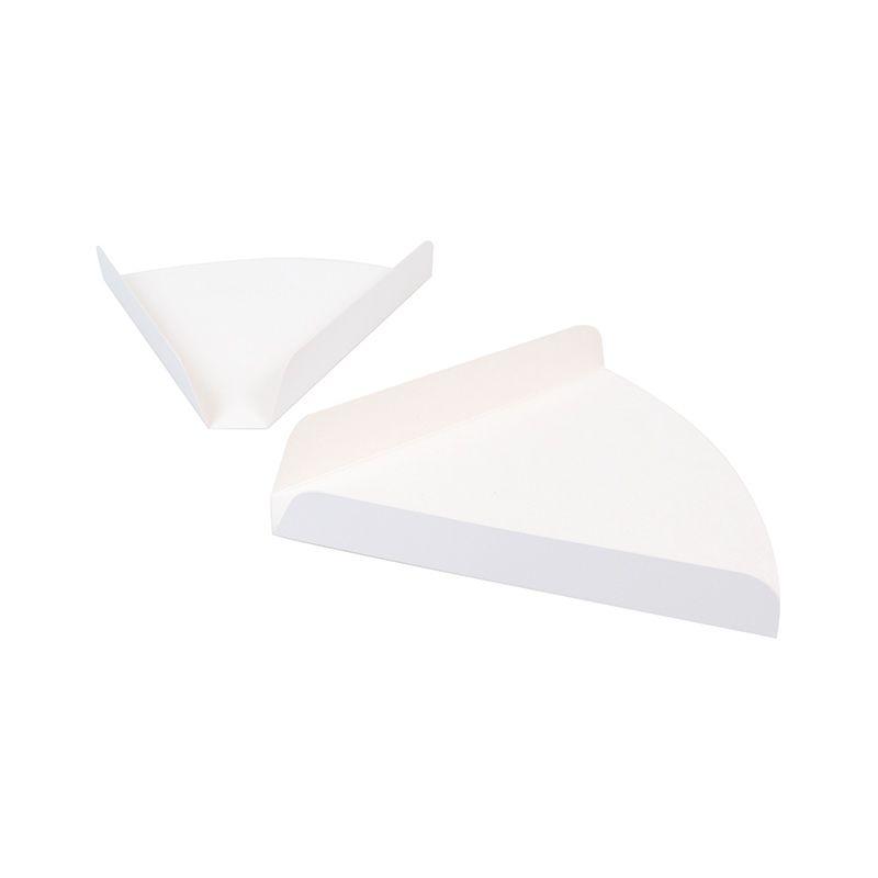 Triangle rainé blanc - 180 x 180 x 25 mm - par 250 pièces
