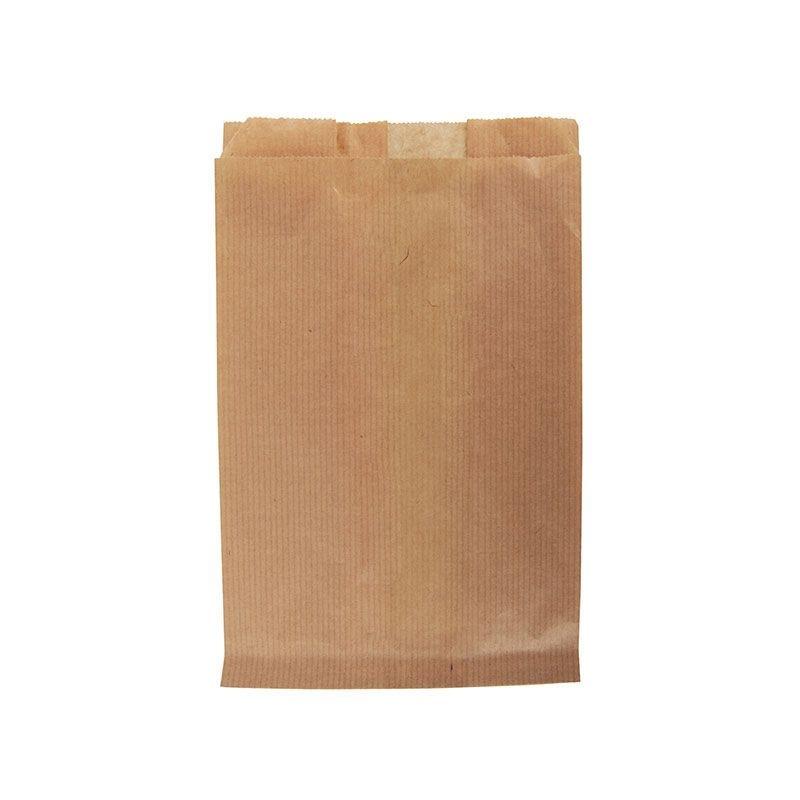 Sac kraft brun vierge- 23 + 8 x 34 cm - par 1000 pièces