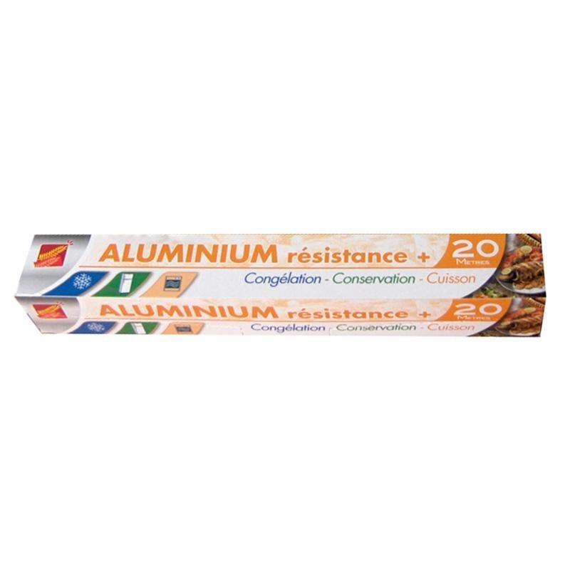 Aluminium ménager haute résistance en rouleau 20 x 0,29 m - par 24 pièces (photo)