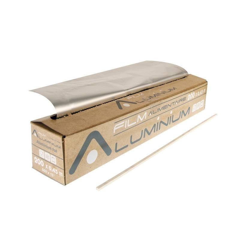 Aluminium pro en rouleau avec boite distributrice 200 x 0,45 m - par 6 pièces (photo)