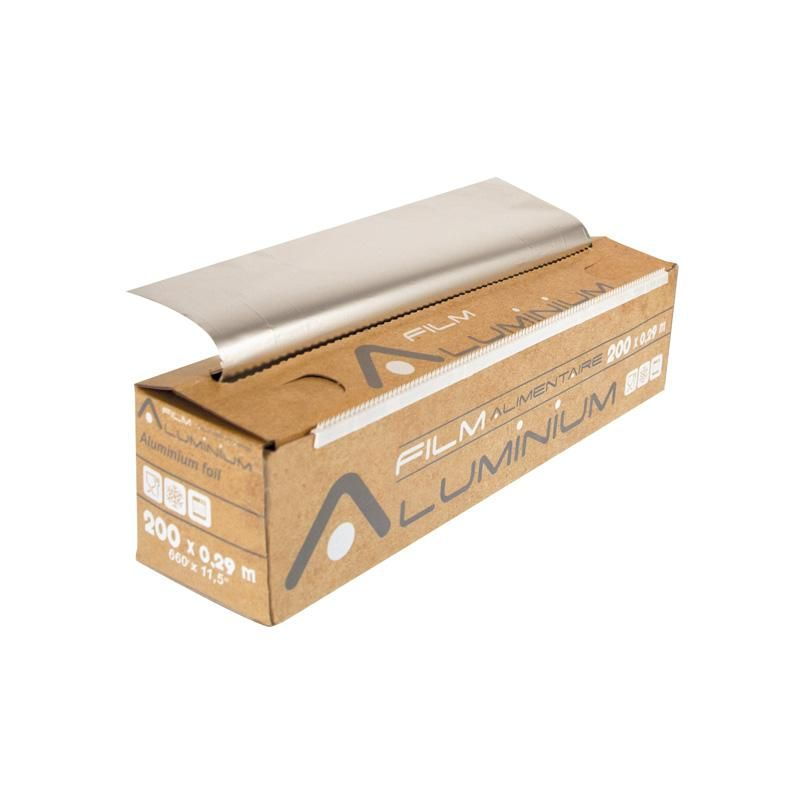 Aluminium pro en rouleau avec boite distributrice 200 x 0,29 m - par 3 pièces (photo)