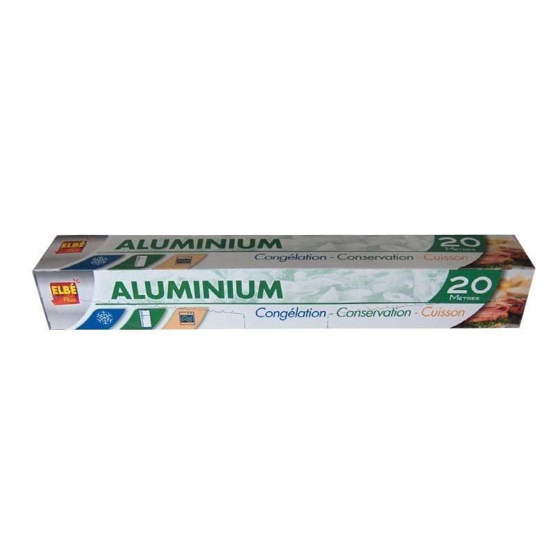 Aluminium ménager en rouleau 20 x 0,29 m - par 24 pièces (photo)