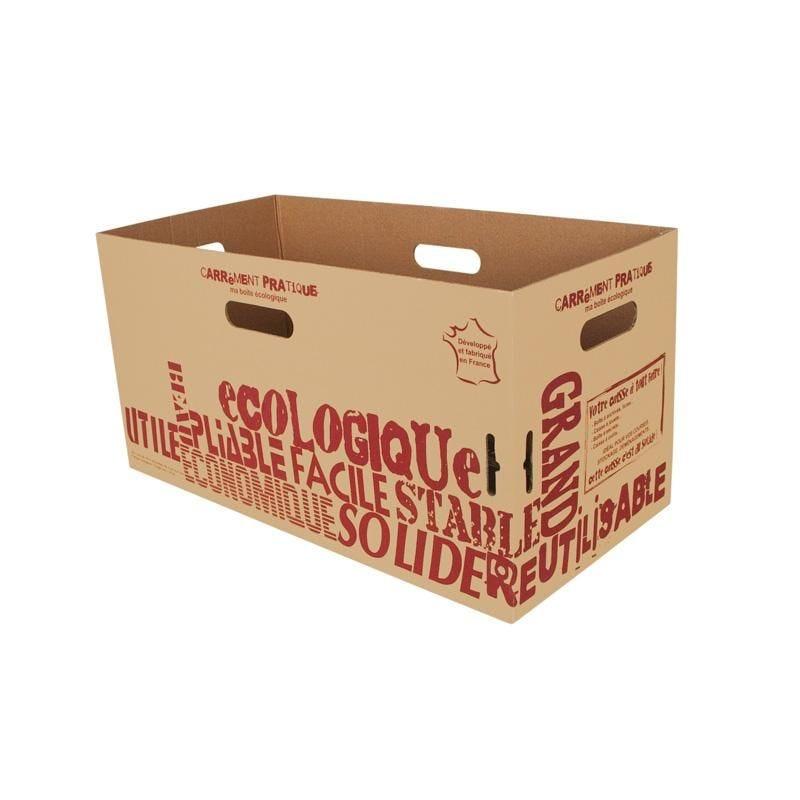 Carton courses 30 l kraft brun - par 10 pièces