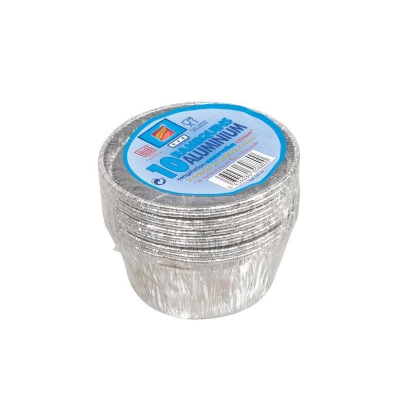 Plat aluminium 10 ramequins - 20 paquets de 10 pièces (photo)