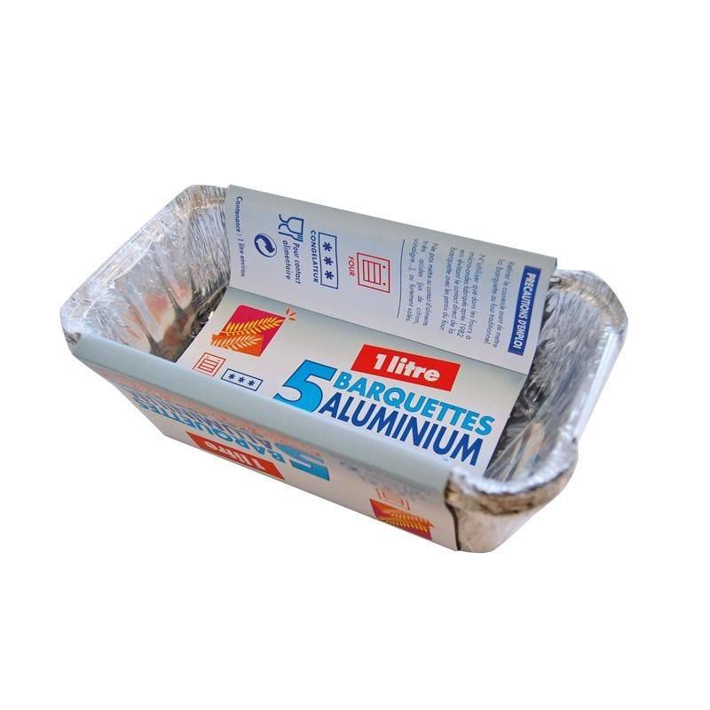 Barquette aluminium 1 l - 12 paquets de 5 pièces (photo)