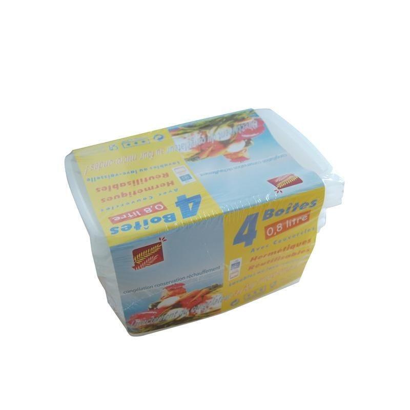 Boîte micro-ondes 0,8 l. - 10 paquets de 4 pièces (photo)