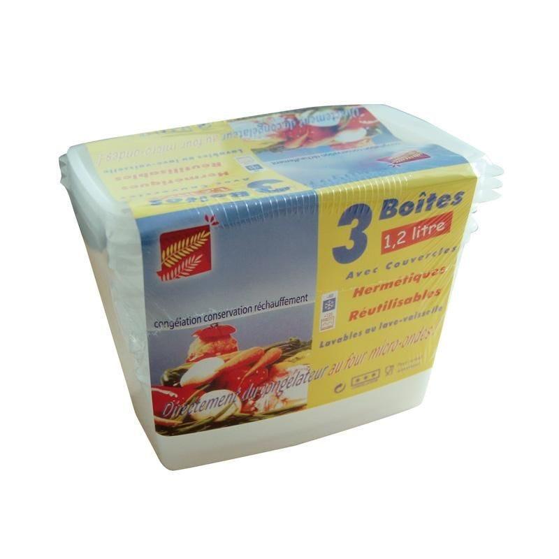 Boîte micro-ondes 1,2 l. - 10 paquets de 3 pièces (photo)