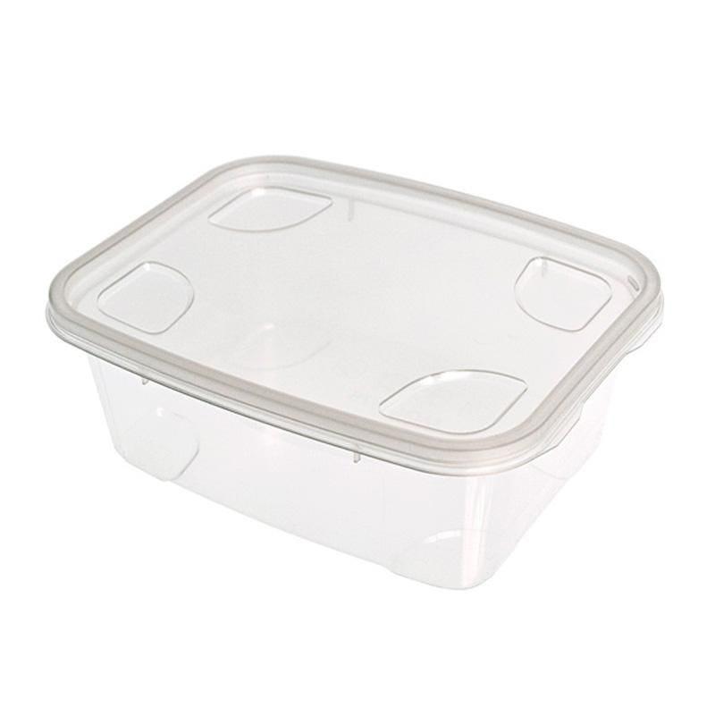 Boîte à couvercle séparé polypropylène -1000 cc- 9 paquets de 20 pièces (photo)