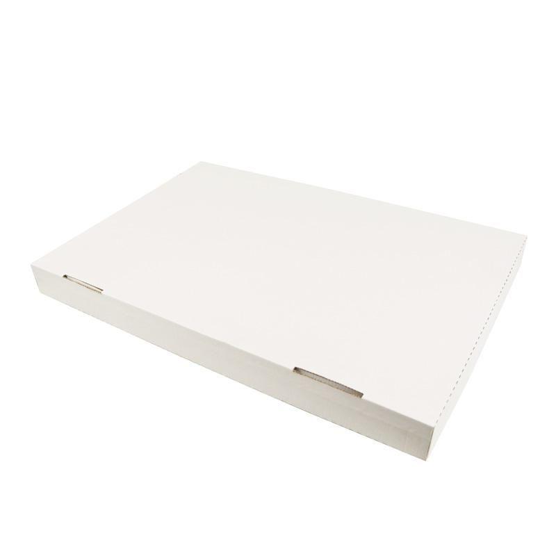 Boîtes traiteur kraft blanc - 40 x 60 x 5 cm - par 50 pièces (photo)