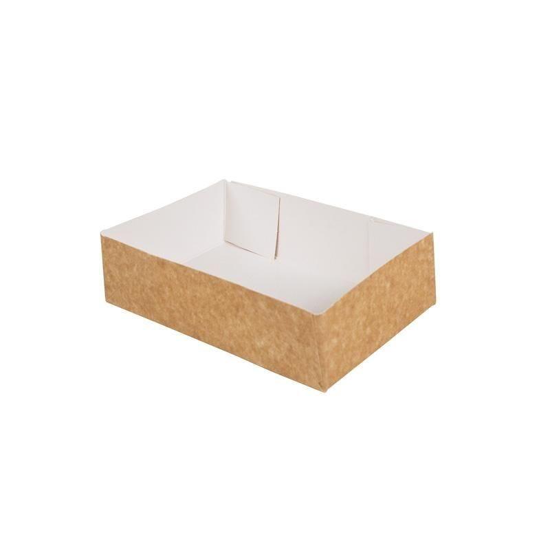 Caissette pâtissière carton compact - 130 x 100 x 50 mm - par 200 pièces (photo)