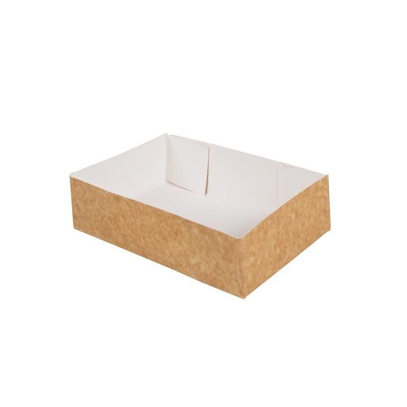 Caissette pâtissière carton compact - 160 x 120 x 50 mm - par 200 pièces (photo)