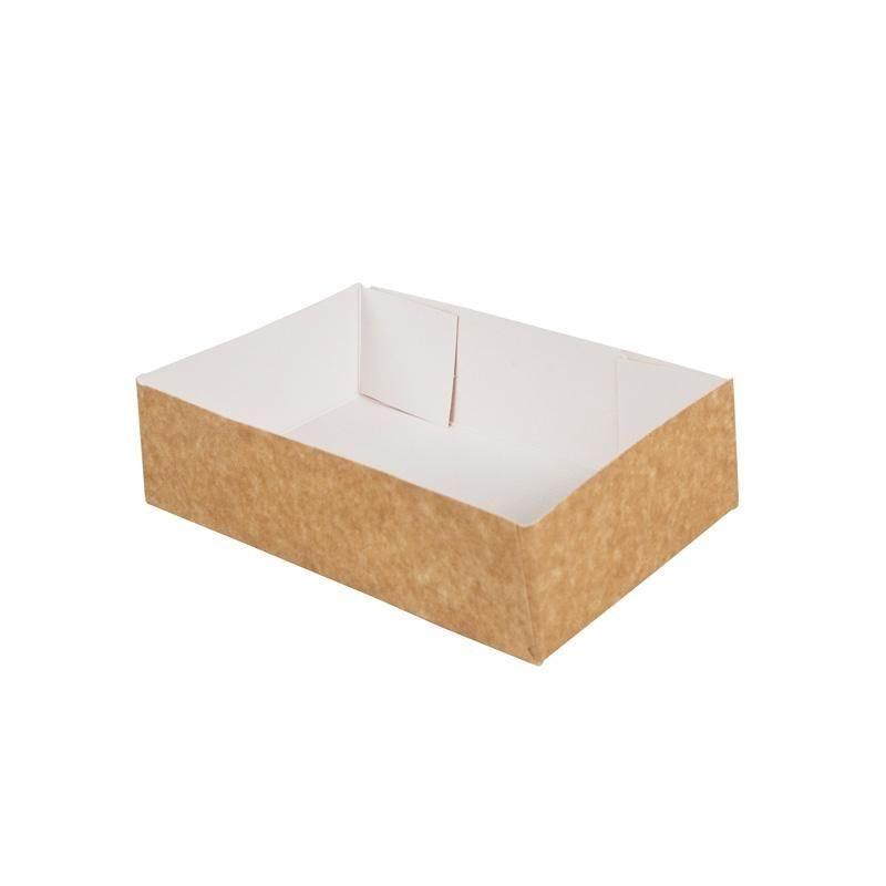 Caissette pâtissière carton compact - 180 x 120 x 50 mm - par 200 pièces (photo)