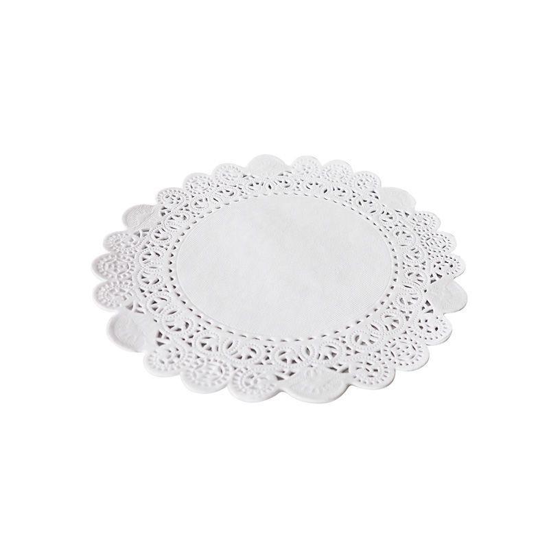 Dentelle blanche ronde - ø 23 cm - 8 paquets de 250 pièces (photo)
