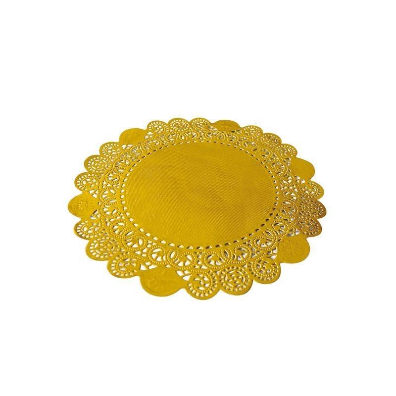 Dentelle or ronde - ø 24 cm - 8 paquets de 250 pièces (photo)