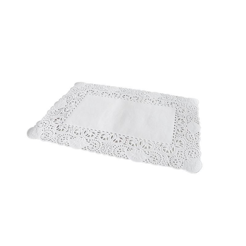 Dentelle blanche rectangulaire - 25 x 35 cm - 8 paquets de 250 pièces (photo)