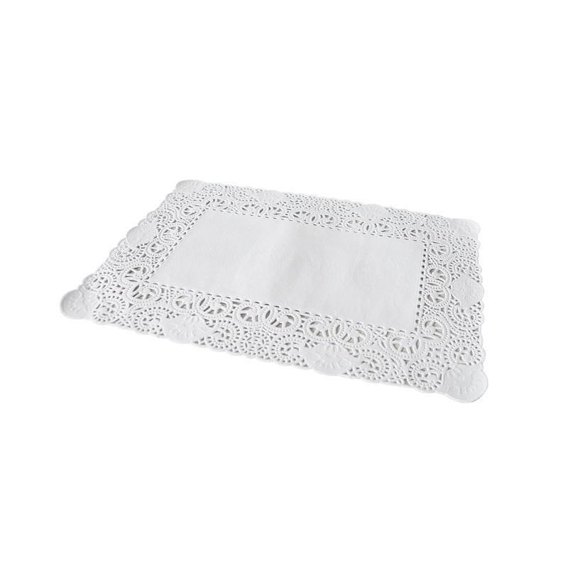 Dentelle blanche rectangulaire - 30 x 40 cm - 4 paquets de 250 pièces (photo)