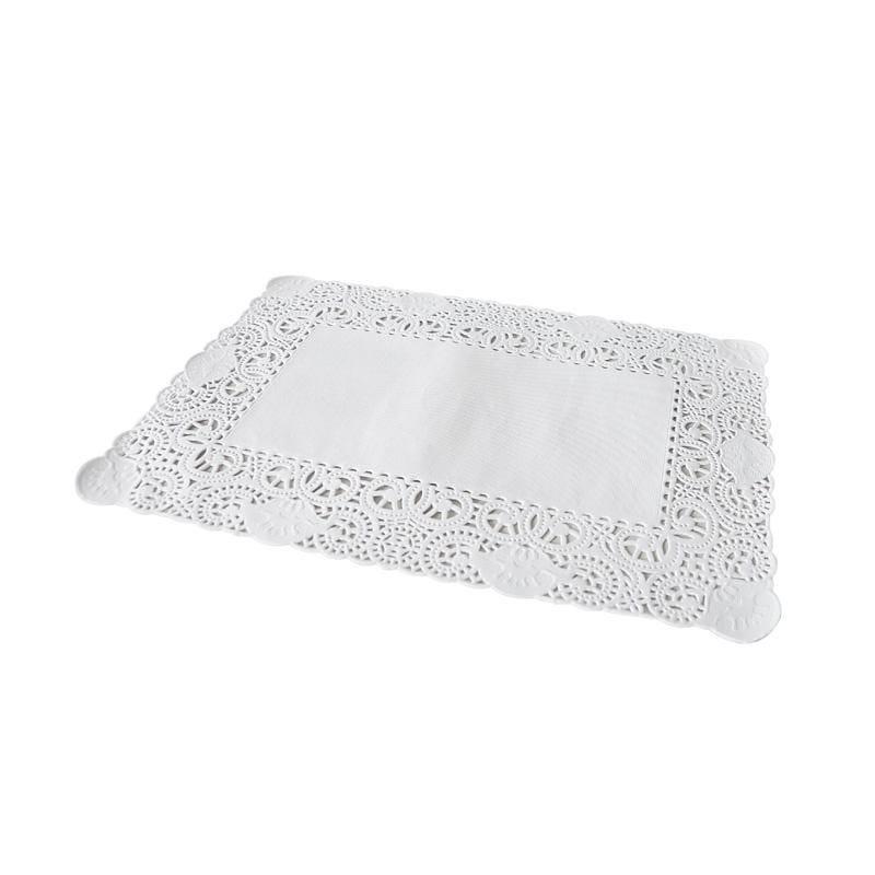 Dentelle blanche rectangulaire - 35 x 45 cm - 4 paquets de 250 pièces (photo)
